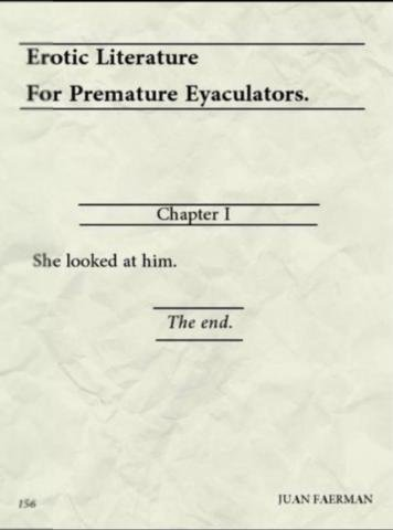 The shortest erotic story you'll ever read.